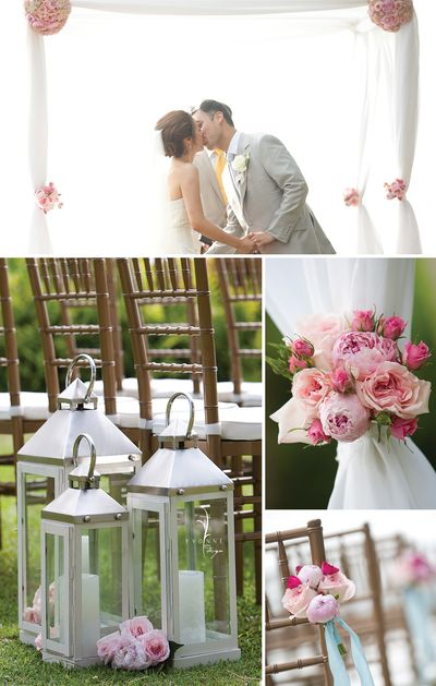 Hawaii Wedding Lani4 Lanterns Accented With Garden Roses And Peonies Marked